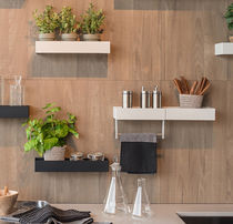 Wall-mounted shelf / contemporary / metal / for kitchens