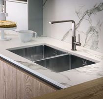Double kitchen sink / stainless steel