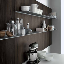 Wall-mounted shelf / contemporary / aluminum / painted metal