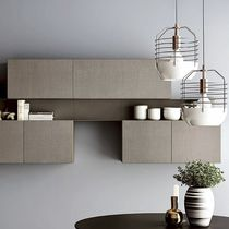 Wall-mounted shelf / contemporary / painted metal