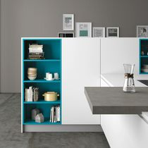 Contemporary shelf / lacquered wood / for kitchens