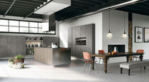 Contemporary kitchen / melamine / lacquered wood / wood veneer