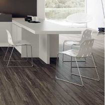 Contemporary dining table / rectangular / white