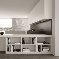 Low shelf / contemporary / lacquered wood / for kitchens