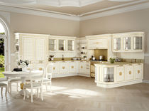 Traditional kitchen / ash / marble / U-shaped