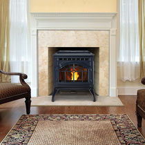 Pellet heating stove / traditional / metal