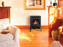 Gas heating stove / traditional / metal