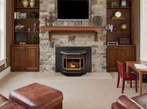 Pellet fireplace insert / 3-sided