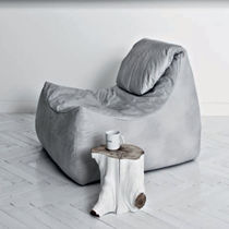 Contemporary fireside chair / polyurethane / with washable removable cover / interior