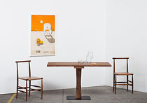 Contemporary dining table / oak / walnut / rectangular