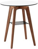 Contemporary bistro table / wooden / laminate / round