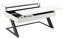 Contemporary coffee table / MDF / steel / rectangular