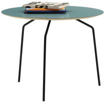 Contemporary side table / laminate / round