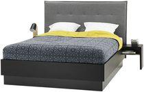 Double bed / contemporary / oak / walnut