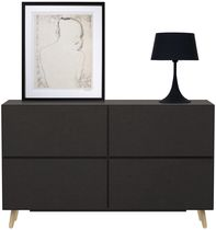 Contemporary sideboard / lacquered MDF