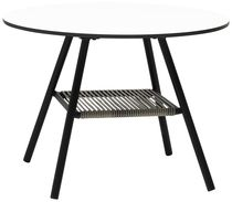 Contemporary table / steel / laminate / rectangular