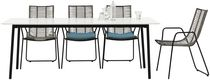 Contemporary table / steel / laminate / rectangular