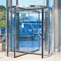 Entry door / revolving / glass / security