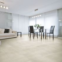 Living room tile / floor / porcelain stoneware / enameled