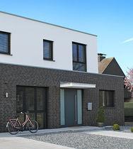 Solid brick / for facades / black / clinker