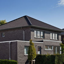 Solid brick / for facades / blue / clinker
