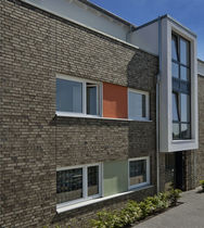 Solid brick / for facades / clinker
