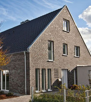 Solid brick / for facades / gray / black