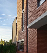 Solid brick / for facades / red / clinker