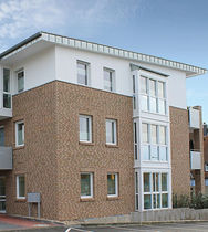 Solid brick / for facades / sand / clinker