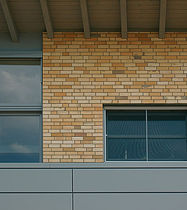 Solid brick / for facades / yellow / clinker