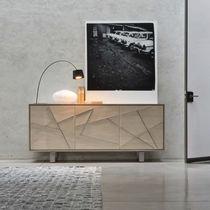 Contemporary sideboard / wooden / beige