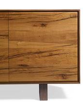Contemporary sideboard / walnut / metal / brown