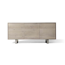 Contemporary sideboard / wooden / gray