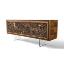 Sideboard with long legs / contemporary / wooden / brown