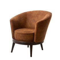 Contemporary armchair / fabric / club / for hotels