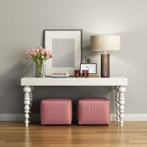 Contemporary sideboard table / painted wood / rectangular