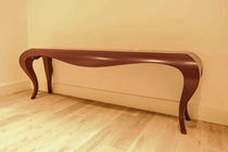 Original design sideboard table / lacquered wood / wood veneer / stained wood