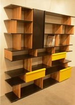 Modular bookcase / contemporary / for offices / wooden
