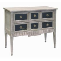Chest of drawers with long legs / traditional / wooden / brown