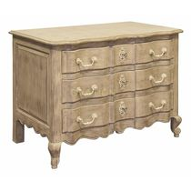 Classic chest of drawers / wooden / beige