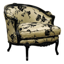 Louis XV style armchair / fabric / bergere