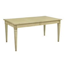 Louis XVI style dining table / wooden / rectangular / round