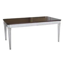 Louis XVI style dining table / wooden / rectangular / extending