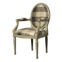 Louis XVI style armchair / wooden / medallion