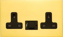 Power socket / USB / triple / wall-mounted