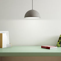 Pendant lamp / contemporary / concrete / dimmable