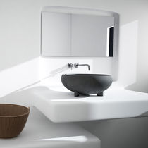 Countertop washbasin / round / concrete / contemporary