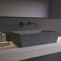 Countertop washbasin / conical / concrete / contemporary