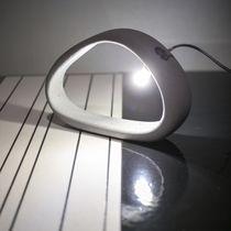 Table lamp / contemporary / concrete / handmade