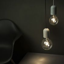 Pendant lamp / contemporary / concrete
